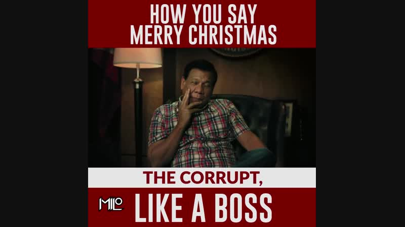 EPIC CHRISTMAS MESSAGE OF PRESIDENT DUTERTE