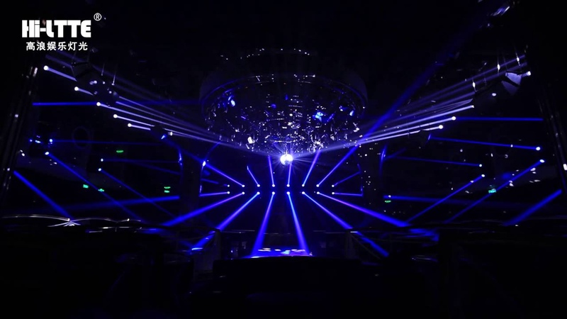 Hi-ltte Rambo-legend ,knight 7R beam and Chameleon AURA led in Golden night club