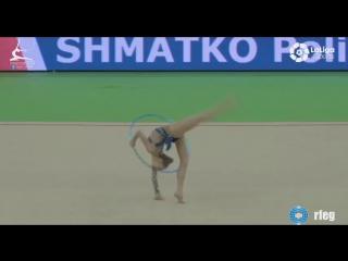 Полина Шматко обруч (финал) // Межднународный турнир юниорок Гвадалахара,Испания 2018
