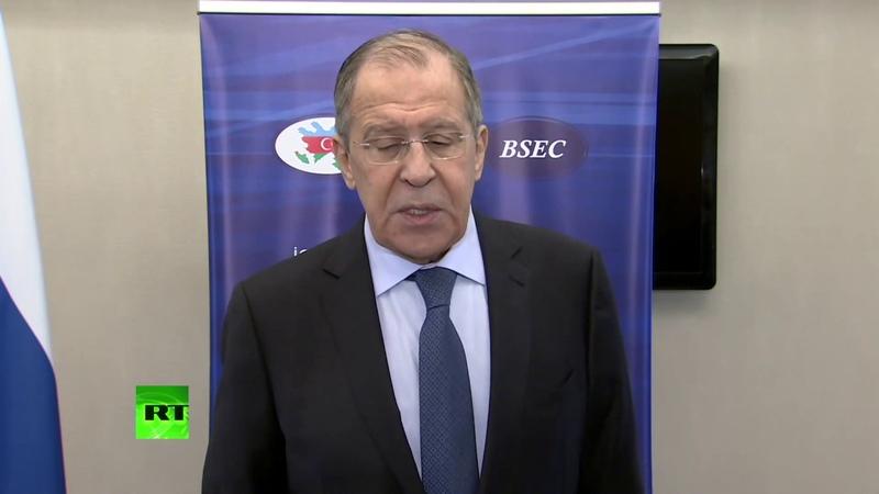 Пресс подход Лаврова по итогам заседания СМИД ОЧЭС в Баку