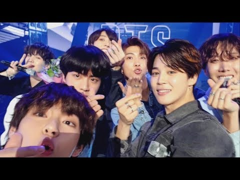 BTS (방탄소년단) FAKE LOVE Self MV @Music Bank Encore stage