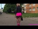Girls in mini dress walking in street, mini dress hot, Девушка в мини юбке на улице города, ножки суппер, big ass, sexy big ass