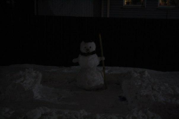 Снеговичка построили себе —милота  2 января 2018 года