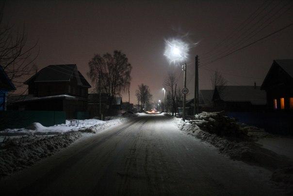 Зимний вид на улицу Гагарина в районе перекрёстка с Энгельса.  2 января 2018 года.