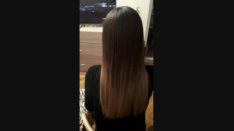 Реконструкция волос Повторная процедура спустя 19 дней