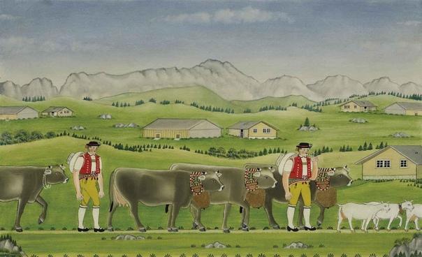 Johannes Zulle (29 декабря 1841 - 1938, Швейцария) #наив@art_shoc