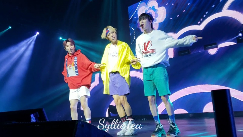FANCAM - Neol Hada - Wonho, Minhyuk, Kihyun Stage - Monsta X in Chicago 2018 (Front row)