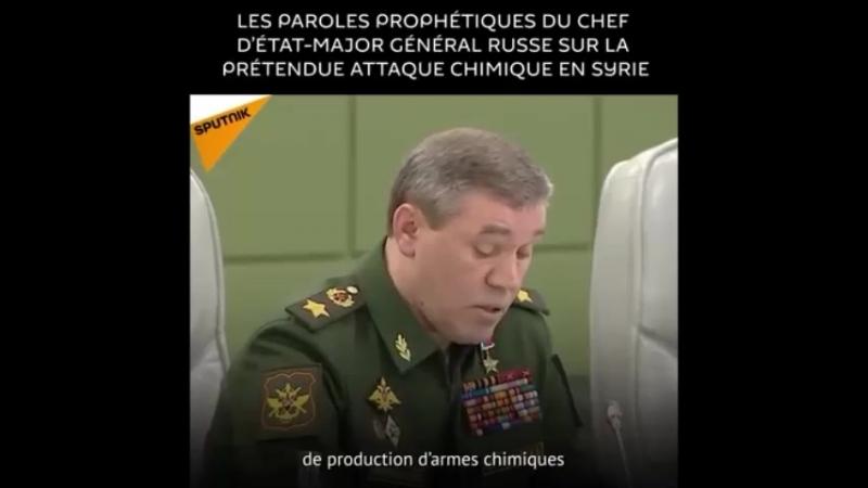 Russie En mars 2018 la Défense russe avait indiqué que des radicaux préparaient la mise en scène d'une prétendue attaque chim
