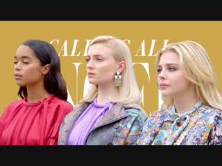 Louis Vuitton's Charlie's Angels Chloe Grace Moretz, Sophie Turner, and Laura Harrier ¦ InStyle