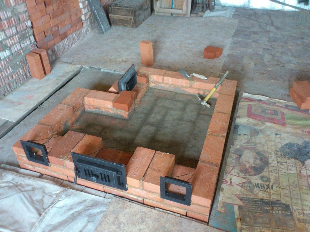 Этапы строительства печи