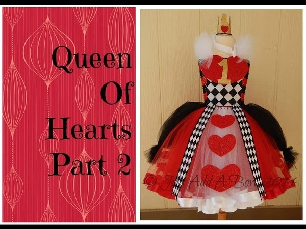 HOW TO: Make a Queen of Hearts Tutu Dress by Just Add A Bow Part 2