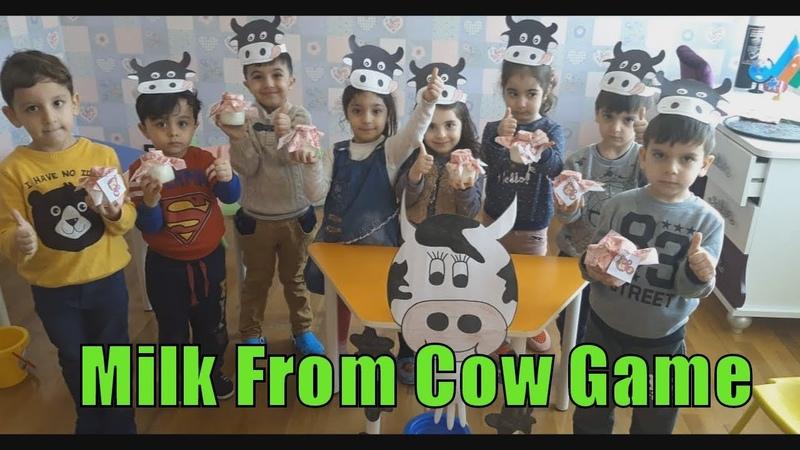 CHILDREN MAKE YOGURT FROM MILK COWS 🐂 UŞAQLAR İNƏK SÜDÜNDƏN YOGURD DÜZƏLDİR
