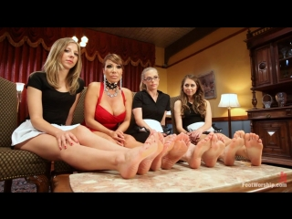 Footworship.com - Ava Devine, Riley Reid, Penny Pax, Chastity Lynn [Foot fetish, Foot worship, Femdom, Fisting, Lesbians]