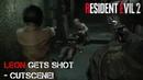 Resident Evil 2: Remake - Leon Gets Shot - Cutscene! [1440p/60FPS] [No Commentary]