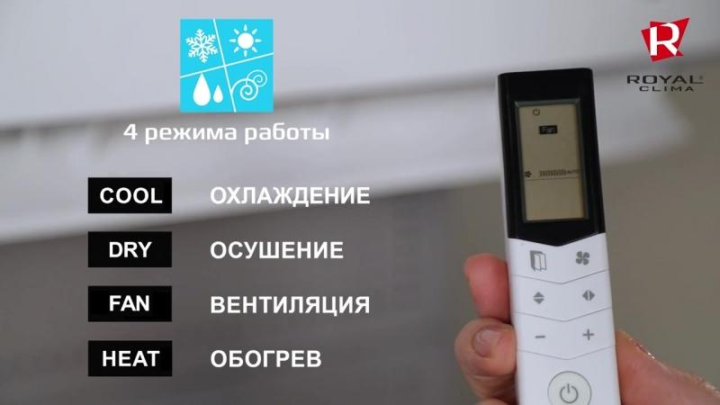 Обзор сплит-систем ROYAL Clima серии PRESTIGIO