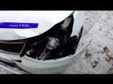 Обзор аварий КИА и 9-ка в п.Ганино. 16.03.2018