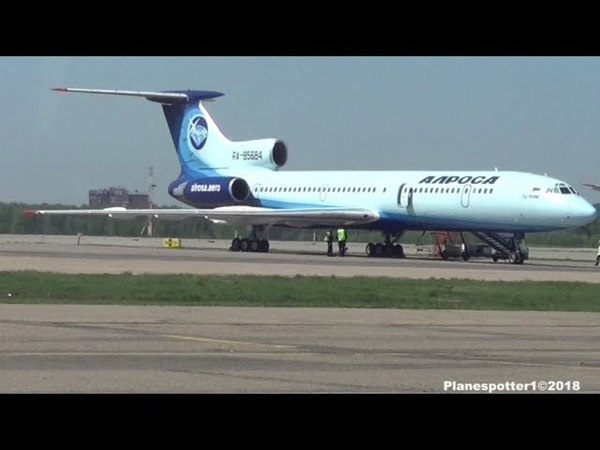 ТУ-154М RA-85684 Алроса Москва-Сочи. Полет