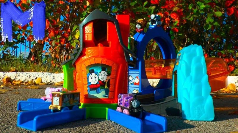 Паровозик Томас и его друзья - Трек и паровозик Томас - Играем в игрушки для детей