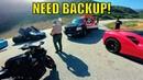 LAPD COPS takedown FERRARI racing Superbike!