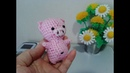 Хрюшка-брклок. Pig-keychain. Amigurumi. Crochet. Амигуруми. Игрушки крючком.