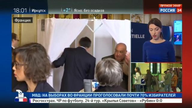 Новости на Россия 24 • Выборы во Франции: метрополия - за Макрона и Ле Пен, заморские территории - за Меланшона