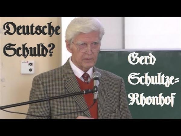 Schultze-Rhonhof über die Ursachen des Zweiten Weltkrieges - Vortrag vom März 2019