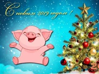 Прикольное поздравление С Новым 2019 Годом!_(VIDEOMEG.RU)
