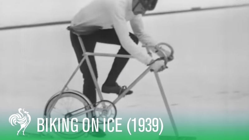Man Invents Icycling: Bicycling On Ice (1939)