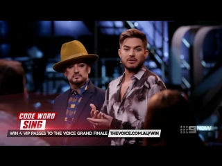 Boy Georges Buddy Adam Lambert Surprise Visit - The Voice Australia 2018
