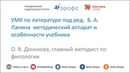 УМК по литературе под ред Б.А. Ланина методический аппарат и особенности учебника