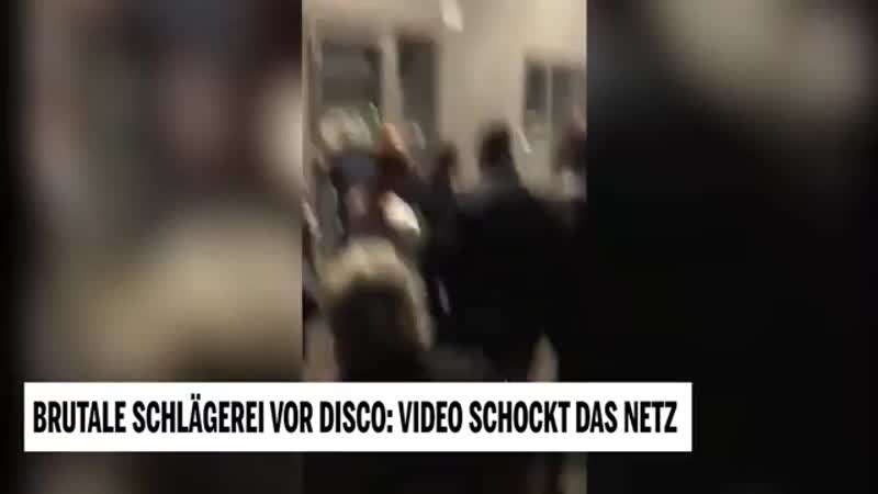 Brutale Schlägerei vor Disco Video schockt das Netz
