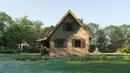 Каркасный дом 6х6 с мансардой. Проект КД-37. Внешний вид
