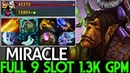 Miracle- [Alchemist] Madness Monster Full 9 Slot 1.3K GPM 7.20 Dota 2