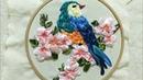 Hướng dẫn thêu ruy băng Chim hạc [ Ribbon Embroidery ]