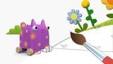 ДЕРЕВЯШКИ - День Рождения - Мультик Раскраска с Деревяшками
