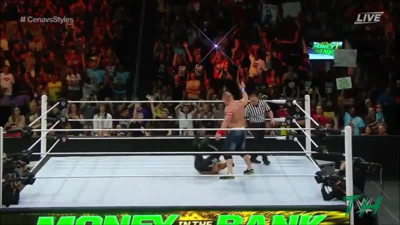 John Cena vs AJ Styles Highlights HD Money In The Bank 2016