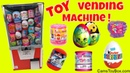Toy Vending Machine Surprises Shopkins Kinder Eggs Barbie My Little Pony Fashems Squishy Pop TOYS