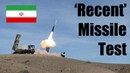 Tehran Confirms 'Recent' Missile Test Amid Western Criticism Reports
