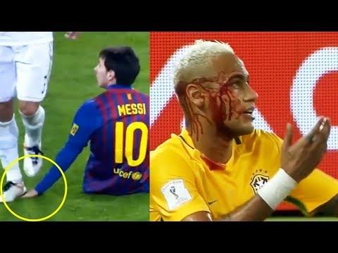 Những Pha Hành Hung Khô Máu Trên Sân Cỏ Neymar, Messi, Cr7...⚽ Kênh thể Thao