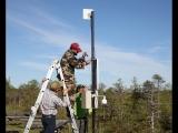 Установка автоматической метеостанции АПИК на полигоне OTC_dry