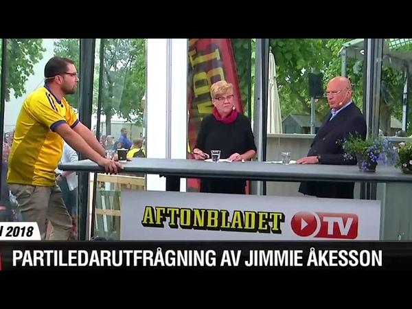 JUST NOW Jimmie Åkesson frågas ut i Aftonbladets tält