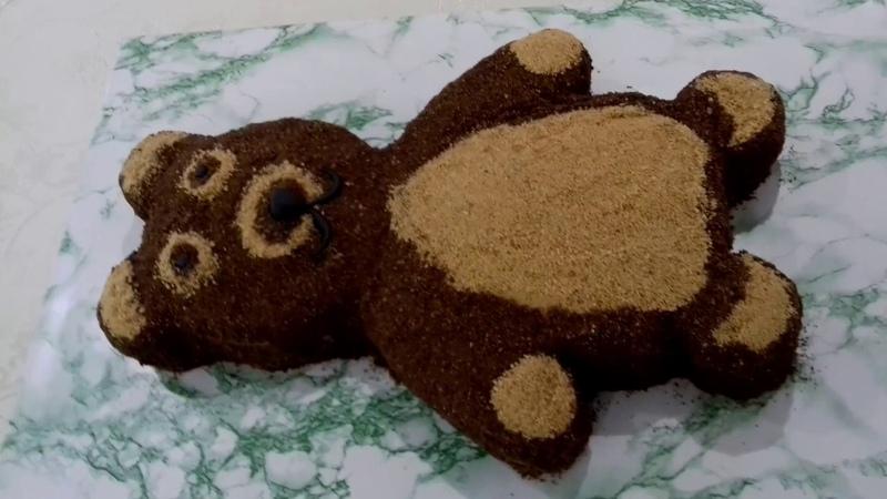 Медовый торт с кремом вареной сгущенкой. Balli tort.🐼 Мишка медовик 🐼şirniyatlar, şirniyatların