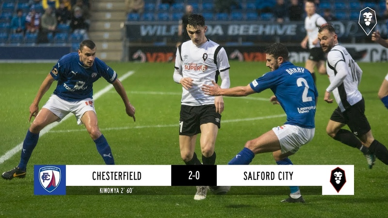 Chesterfield 2 0 Salford City The National League 08 12 18