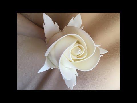 Делаем бутон розы из изолона