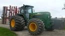 John Deere 4755 Going Uphill Cultivating w/6-Meter Horsch Cultivator   PURE POWER   Danish Agri