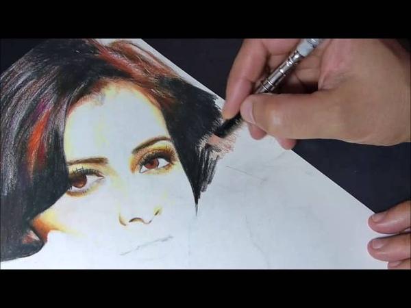 Drawing Diya Mirza Bollywood star