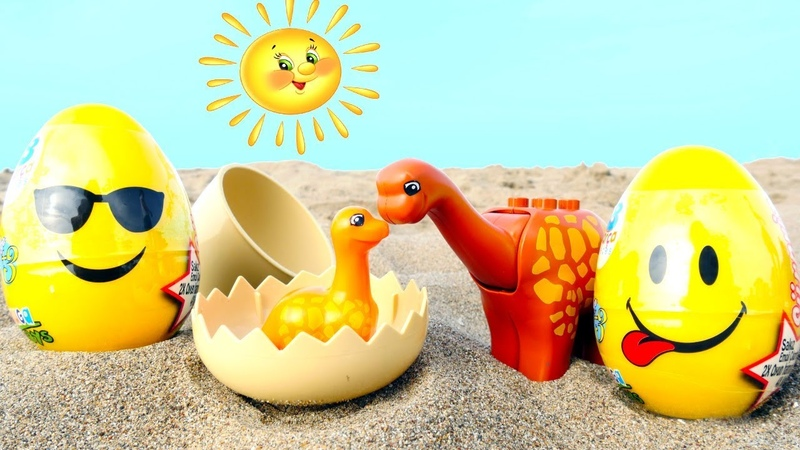 Мультики для малышей. Песочница для самых маленьких и яйца сюрприз