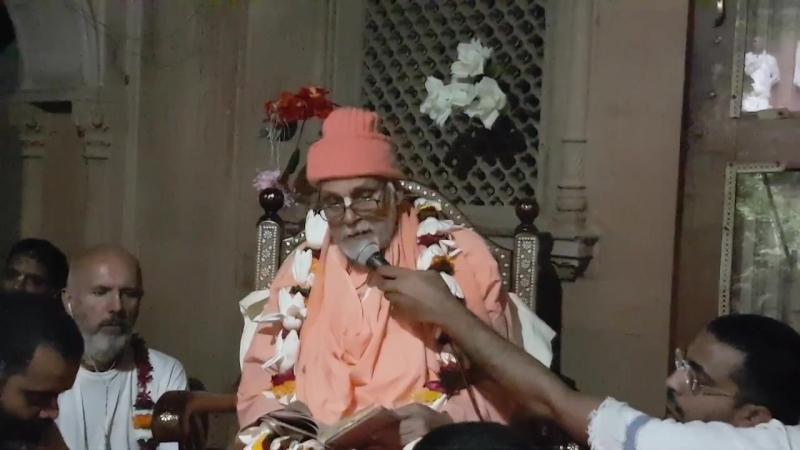 28.10.2016 г. Шрила Б.Вигьяна Бхарати Махарадж. «Шри Шикшаштака», 7-ой стих. Вриндаван, Картика