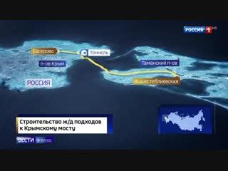 В Керчи завершили прокладку железнодорожного тоннеля к Крымскому мосту