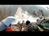 A massive landslide in the Reasi region of Kashmir-India